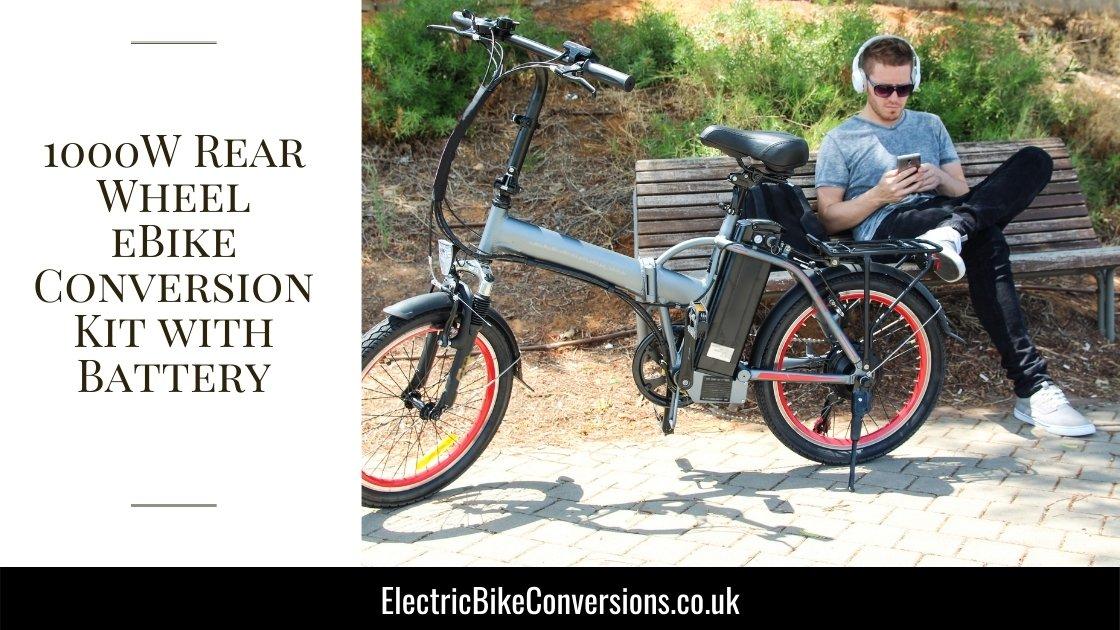1000W Rear Wheel Bike Conversion Kit w Battery