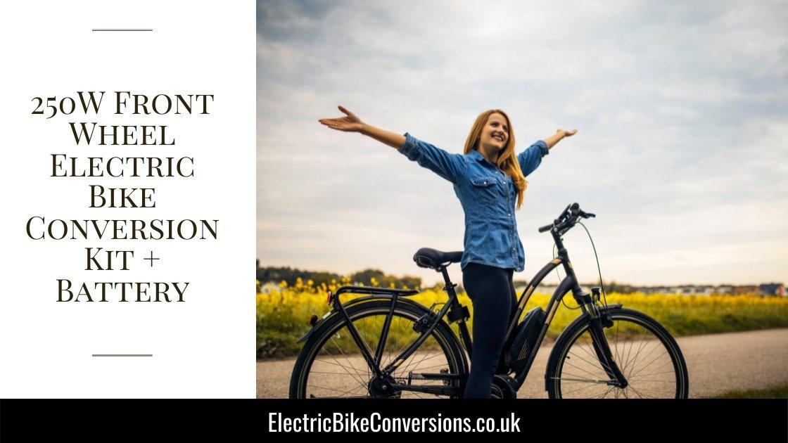 250W Front Wheel Electric Bike Conversion Kit incl Battery