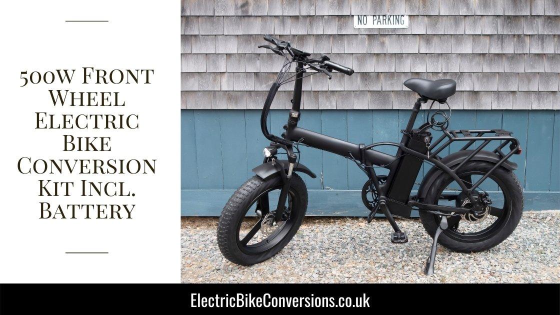 500w front wheel electric bike conversion kit