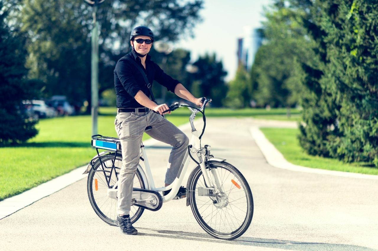 can you ride an e bike on pavement