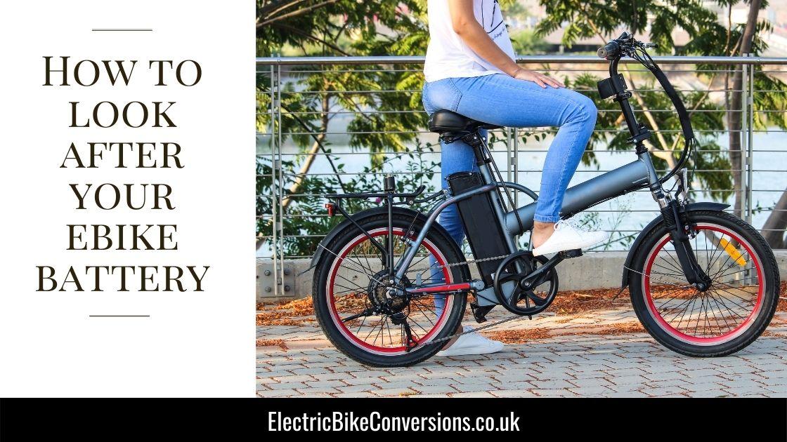 electric bike battery care