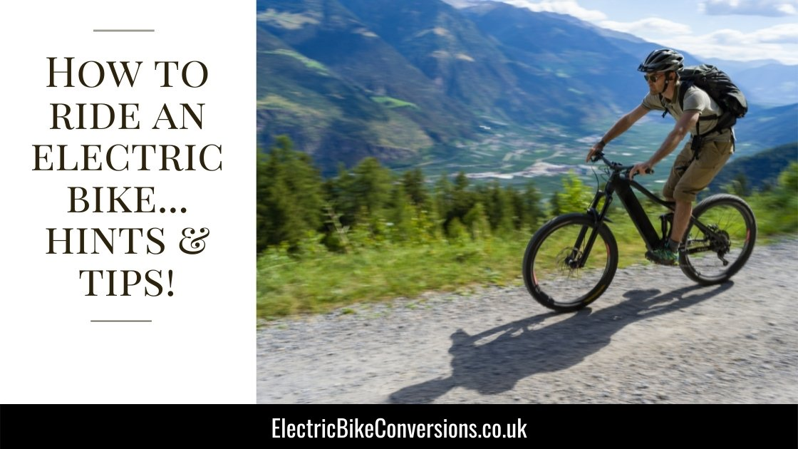 how to ride an electric bike tips